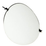 Isolated Round Studio Photography Reflector and Stand